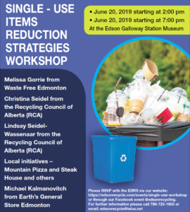 Single-Use Items Reduction Strategies Workshop @ Edson Galloway Station Museum