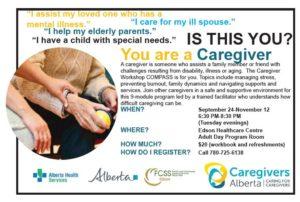 COMPASS Caregiver Workshop @ Edson Healthcare Centre - Adult Day Program Room