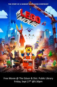 Free Movie Friday- The LEGO Movie @ Edson & District Public Library