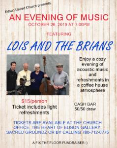Lois and The Brians @ Edson United Church