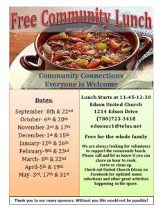 Free Community Lunch @ Edson United Church