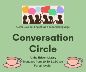 Conversation Circle @ Edson Library