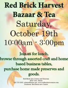 Harvest Bazaar and Tea @ Red Brick Arts Centre and Museum