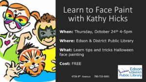 Learn to Face Paint @ Edson & District Public Library