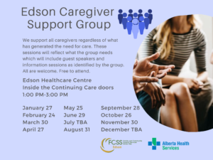 Edson Caregiver Support Group @ Edson Healthcare Centre-Inside Continuing Care Doors