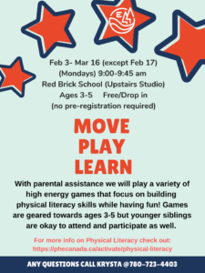 Move Play Learn @ Red Brick Arts Centre (Upstairs Studio)