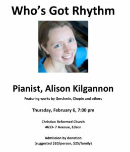 Concert with Pianist Alison Kilgannon @ Christian Reformed Church