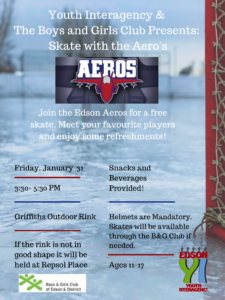Skate with the Aeros @ Griffiths Park Outdoor Rink