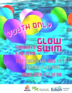 Youth Glow Swim @ Repsol Place Pool