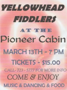 Yellowhead Fiddlers @ Pioneer Cabin