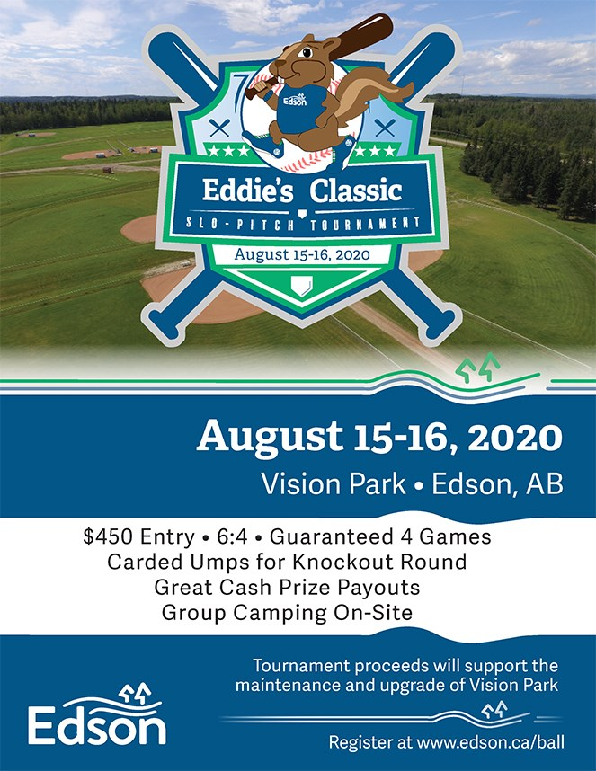 Eddie's Classic Slo-Pitch Tournament @ Vision Park Edson